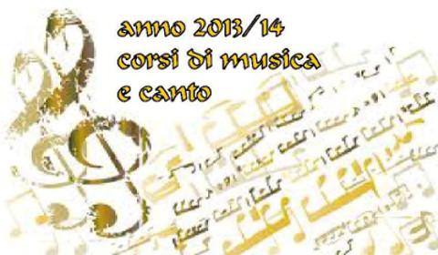 Anno 2013/14 Corsi di musica e canto