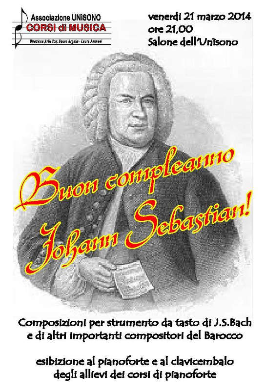Buon compleanno Johann Sebastian!