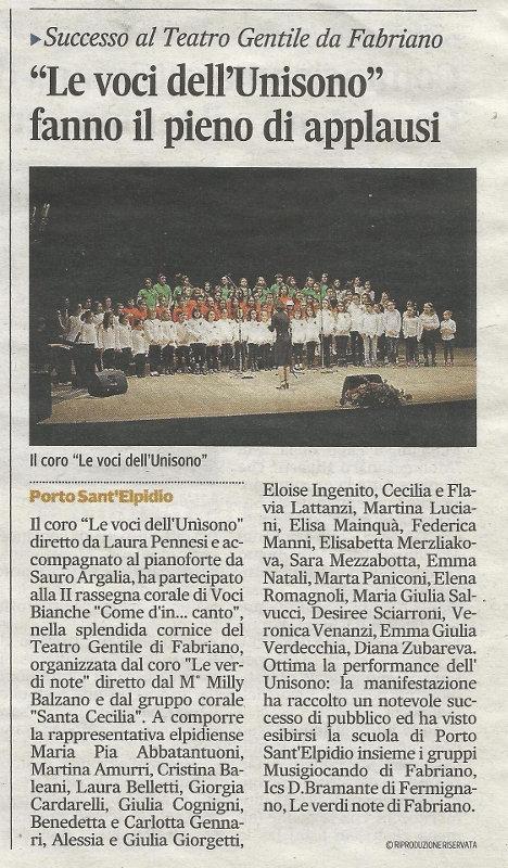 Corriere Adriatico Fabriano 12 aprile 2014